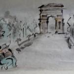 街角の音楽家 a street musician