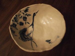 鶴皿 crane dish